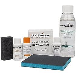 COLOURLOCK Kit restauración para Volantes de Cuero/Piel F034 (Negro), Limpia, Restaurar el Color y Protege el Cuero de los Volantes