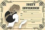 10x Geburtstag Abend Jahrestag Einladungen Great Gatsby Vintage Art Deco