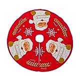 HLHN Weihnachtsbaumdecke Wunderschön Polyester Baumwolle christbaumdecke Weihnachtsbaum Rock Weihnachts Dekorationen -Durchmesser 100cm (A) -