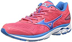 Mizuno Women's Wave Rider W Running Shoes, Multicolor (Paradisepinkblueasterwhite),4.5 Uk (37 Eu)