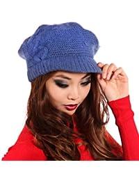 Young Fashion Strick Ballon-Mütze Baskenmütze mit Schild