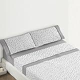 Burrito Blanco - Juego de sábanas Claro de Luna 682 para cama 120x190/200 cm, color gris