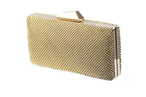 Damen Clutch, Abendtaschen, Umhängetaschen, Unterarmtaschen Gold 1252