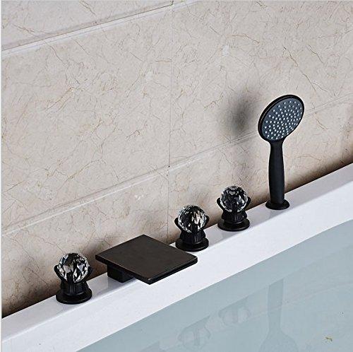 Gowe Mélangeur de salle de bain Répandue Baignoire robinet Répandue Cascade Baignoire mélangeurs avec douchette Couleur : Style 1