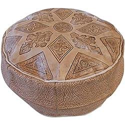 PUF Puff Puff de Gas para Marruecos marroquí auténtica Piel Cuero étnico Reposapiés otomano Handmade 2310181458