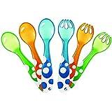 Munchkin 011454 - Set de 3 tenedores y 3 cucharas, surtido de colores