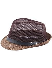 Gysad Diseño Hueco Jazz Cap Hidalgo Sombrero Hombre Verano Protección Solar  al Aire Libre Sombrero Hombre 3d7cf01cbe8