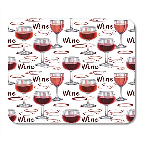 Luancrop Mauspad Roter Alkohol Wein Muster Flecken und Glas Bar Mousepad für Notebooks, Desktop-Computer Mauspads, Bürobedarf -
