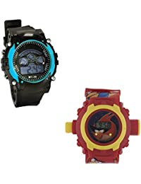 Shanti Enterprises Combo Angry Bird 24 Images Projector Watch And Sports Watch Multi Color Dial For Kids - B0756ZMWG7