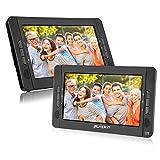Pumpkin Lecteur DVD Portable Enfant 2 ecrans d'appuie-tête 10.1 Pouce supporte Region Libre USB SD MMC Autonomie de 5 Heures Etui de Montage dans Voiture (Deux Lecteur DVD)