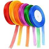 Idealeben 6pcs cintas de regalos decorativas multicolor ideal para los regalos empaquetados de los caramelos de las cajas / hecho a mano/ boda personalizad para crear/artesanías y ropa etc