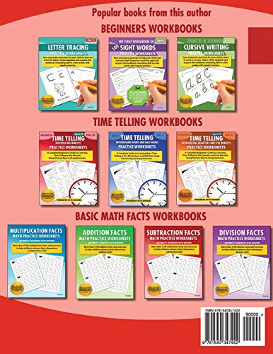 Trace & Learn Numbers Tracing Workbook Practice Worksheets: Daily Practice Guide for Pre-K Children