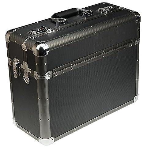 SONOVO 24920 Pilotenkoffer Aluminium schwarz