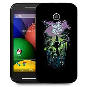 Snoogg Who Are You Designer Protective Back Case Cover For Motorola Moto E