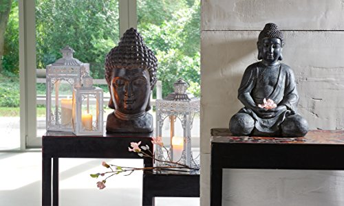 greemotion 124228 Buddha Dekokopf, 27 x 25 x 49 cm, schwarz