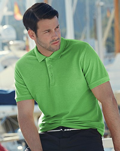 Fruit of the Loom Herren Poloshirt Medium Schwarz