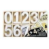 Buchstaben Holz Holzbuchstaben Zahlen shabby chic Alphabet Deko Basteln 50-78 tl (Zahlen Weiß)
