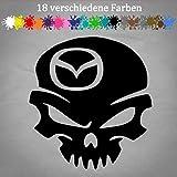Generic Mazda Aufkleber 13 x 12 cm Totenschädel Tuning Auto CX-5 2 3 Car Skin Wunschfarbe in 18 Farben
