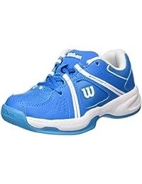 Wilson WRS322310E125, Zapatillas de Tenis Unisex Niños, Azul (Methyl Blue / White / Hawaiian Ocean), 31 1/3 EU