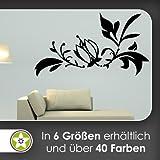 Kiwistar Blume - Ranken Wandtattoo in 6 Größen - Wandaufkleber Wall Sticker