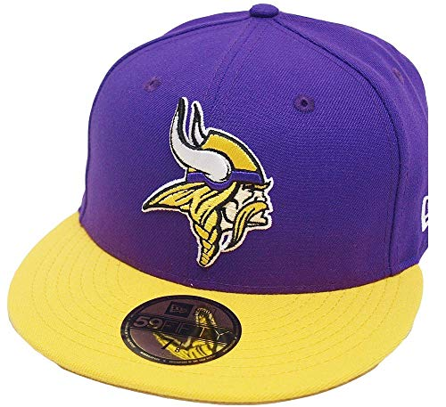 New Era Minnesota Vikings Purple Yellow 2 Tone On Field NFL Cap 59fifty 5950 Fitted Limited Edition Two Tone Fitted Cap