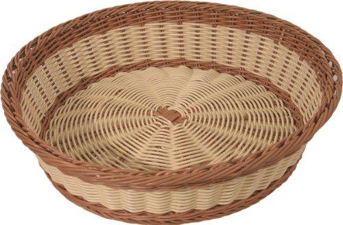 Pain brotkörbe panier rond bicolore 40 cm de diamètre et 10 cm de hauteur passe au lave-vaisselle