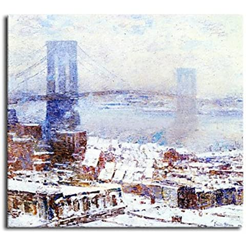 F.Latoo pittura a olio dipinta a mano di paesaggio Ponte
