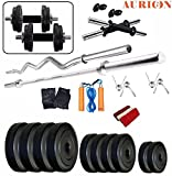 Aurion 40 Kg Combo 11 Home Gym Combo,Fitness Kit 4 Rods