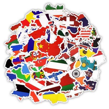 XHFU Länder nationalflagge Aufkleber Spielzeug für Kinder fußball fußball Fans Aufkleber Aufkleber Scrapbooking Reisetasche Laptop Aufkleber 50 stücke -