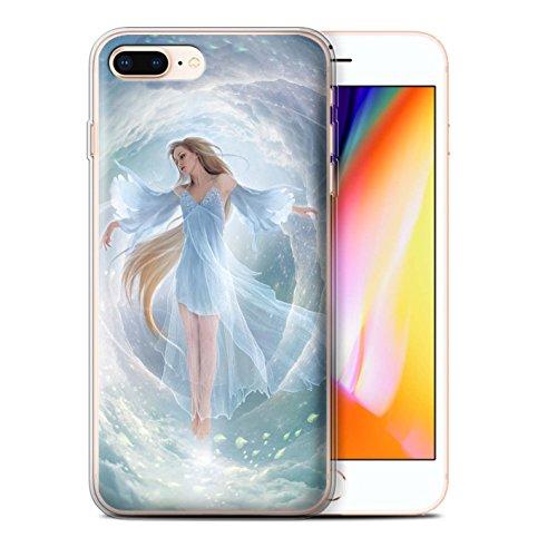 Offiziell Elena Dudina Hülle / Gel TPU Case für Apple iPhone 8 Plus / Air-Kleid Muster / Fantasie Engel Kollektion Air-Kleid