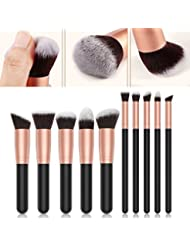 [Sponsorisé]Pinceaux de maquillage 10pcs Premium Lot de brosse de maquillage professionnel Fond de teint blending Contour...