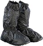 Semptec Urban Survival Technology Gamaschen: Regenüberschuhe mit dicker Sohle, Schwarz, Größe -36/38 EU (Schuhüberzug)