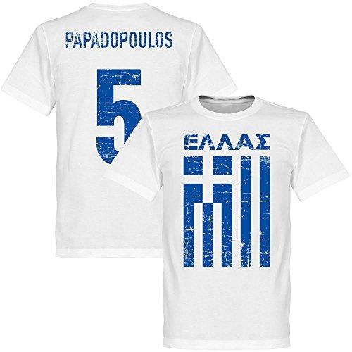 Griechenland Papadopoulos T-shirt - weiss-XXL