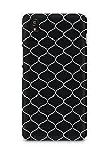 Amez designer printed 3d premium high quality back case cover for OnePlus X (Black n White Pattern11)