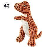 Petacc Hundspielzeug Quietschspielzeug Hundespielzeug Plüsch Weichzahn Reinigung Spielzeug für Hund und Katze (Dinosaurier)