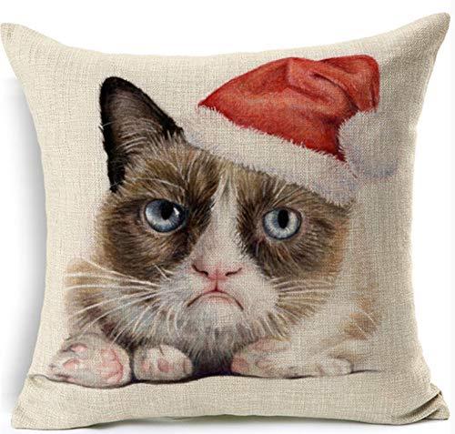 HLZLA Colorful Dog Cushion Dachshund Dekokissen Onkel Cat I Want You Kissen Queen Dog Pet Home Dekorative Kissen2 -