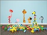 N1027 Animales, Niños habitación Vinilo Decorativo - Decoración Mural gráficos de...