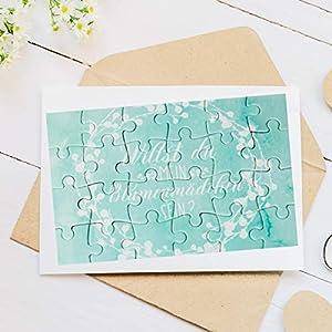 """A6 Puzzle mit 24 Teile """"Willst du mein Blumenmädchen sein?"""" zur Frage an das zukünftige Blumenmädchen – Geschenkidee für Tochter, Nichte, Freundin"""
