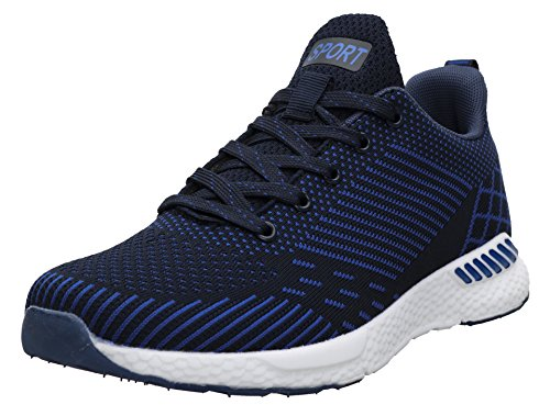 JOOMRA Damen Lightweight Trainers Schuhe Trainer-Schuh für Leichte Läufer und schwerere Läufer Frauen Frau Sneaker Dunkelblau 39 EU (40 Asien)