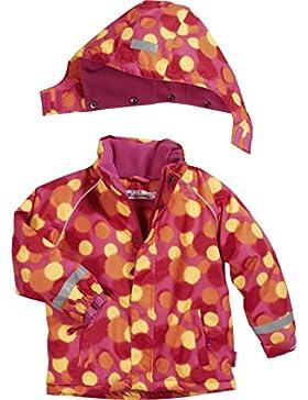 Playshoes Mädchen Schnee-Jacke Punkte Allover Pink/Gelb/Orange
