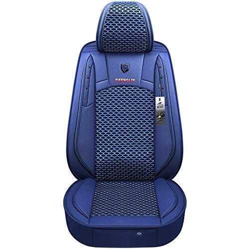 YE Autositzbezug - Komplettsatz, 5 Sitze Universal-Sitzkissen aus Ice-Silk & Leder für den ganzjährigen Einsatz (Color : E)