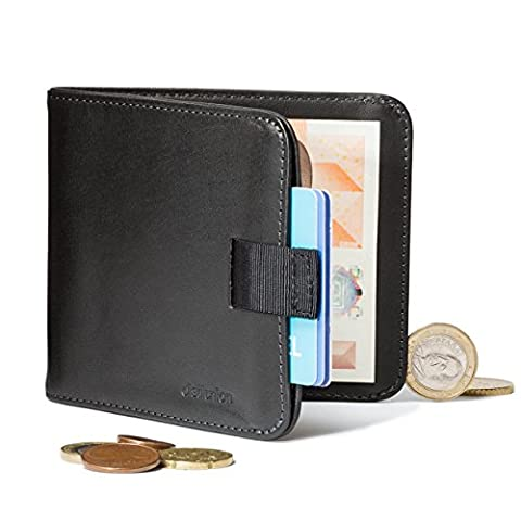 Distil Union Wally Euro Slim Leather Wallet Money Clip Coin Pocket (Ink with Flexlock)