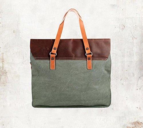 Herren Business casual canvas Tasche Computer Baodan Schulter Handtaschen army green