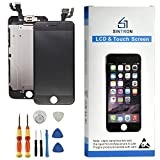 Sintron OEM LCD Screen Replacement - FOR iPhone 6 Black Fully Assembled including Original parts Front Camera, Proximity Sensor, Earpiece, LCD shield + Tools & Guide (For iPhone 6, Fully Assembled-Black)