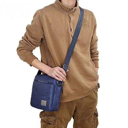 Outreo Borsa Tracolla Vintage Messenger Bag Borse Spalla Borsello Nylon Sacchetto Tablet Donna Borsetta Uomo Viaggio Sport Tasca Blu