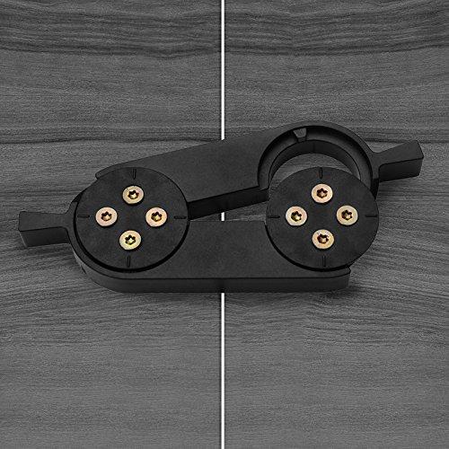 Tischplattenverbinder Lock schwarz Arbeitsplatten-Verbinder