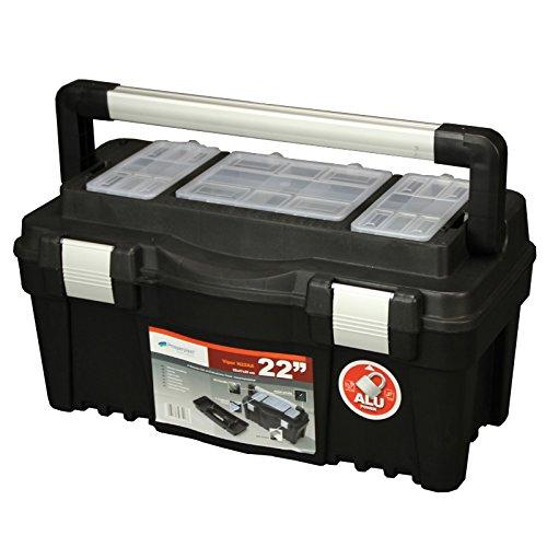 """Werkzeugkoffer Viper 22"""" 55x27x28cm Werkzeugkasten Werkzeugtrage Sortimentskasten Angelkiste Werkzeugbox - 3"""