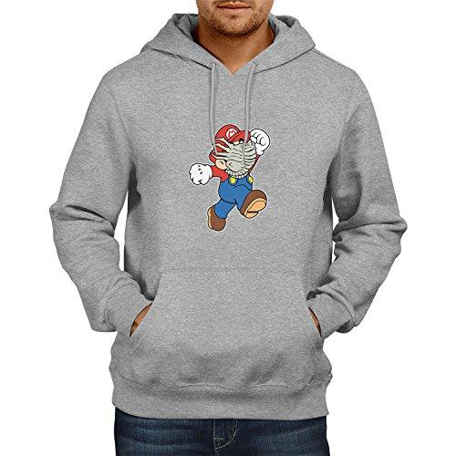 NERDO Mario Face Hug - Herren Kapuzenpullover, Größe -