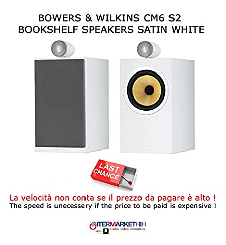 Bowers & Wilkins CM6S2Lautsprecher Bookshelf A 2Wege, Bass Reflex White