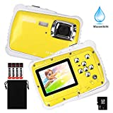 LordFord Waterproof Kids Digital Camera Children Gift Mini Action Sport Camcorder 12MP HD/2.0